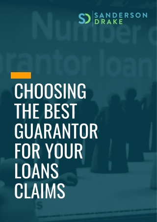 Choosing The Best Guarantor For Your Loans Claims