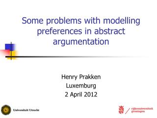 Some problems with modelling preferences in abstract argumentation