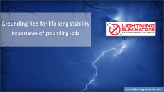 Grounding Rod For Life Long Stability