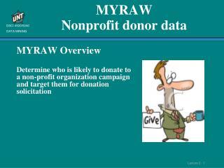 MYRAW Nonprofit donor data