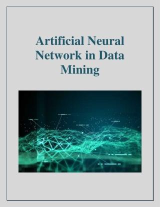 Artificial Neural Network in Data Mining