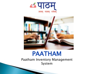 Inventory Management | Online Inventory Software – Paatham Inventory