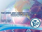 THE FEDERAL TARGET PROGRAM FOR ADVANCEMENT OF EDUCATION IN ...