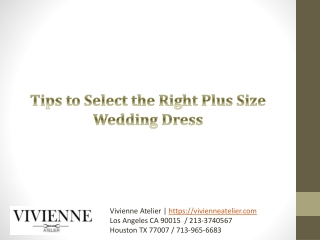 Tips to Select the Right Plus Size Wedding Dress
