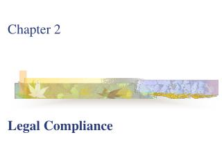 Chapter 2 Legal Compliance