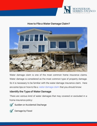 How to File a Water Damage Claim?