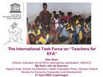 The International Task Force on  Teachers for EFA