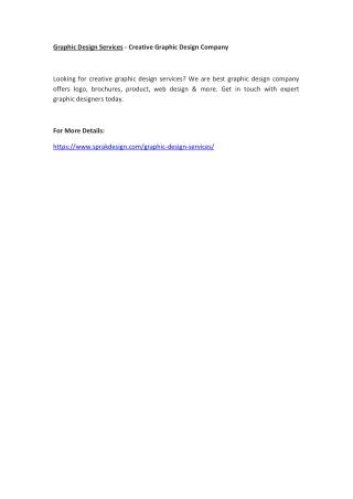 Graphic Design Services - Creative Graphic Design Company