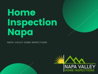 Home Inspection Napa