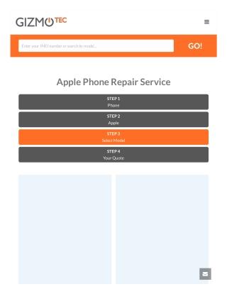 Apple Iphone Screen Repair Service Online | Gizmotec