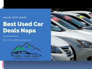 Used Car Deals Napa