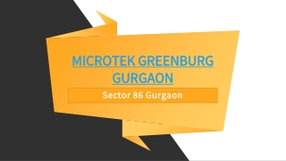 Microtek Greenburg Project Sector 86 Gurgaon