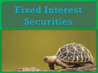 Fixed Interest Securities