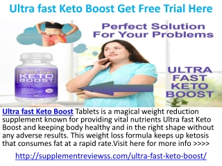 Ultra fast Keto Boost Diet Perfect Weight Loss Supplement In 2019