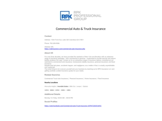 Commercial Auto & Truck Insurance