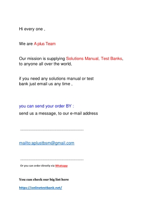 Test bank and solution manual list 6 2019 2020