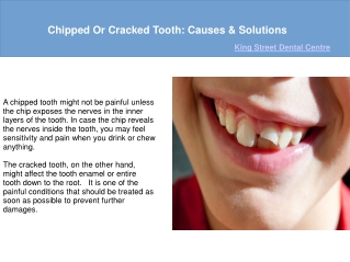 Chipped Or Cracked Tooth: Causes & Solutions