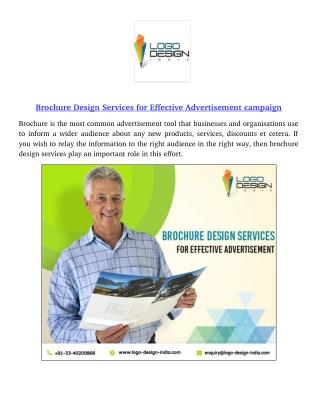 Brochure Design Services for Effective Advertisement campaign