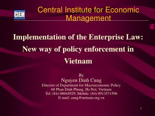 Central Institute for Economic Management
