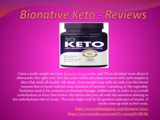 Bionative Keto - Perfect Solution To Weight Lose