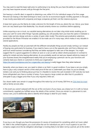 Meet the Steve Jobs of the best van lease deals Industry
