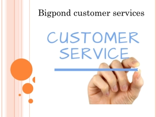 Bigpond account recovery customer services