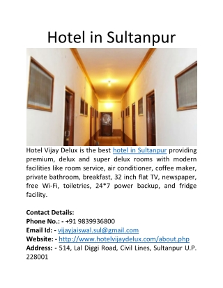 Hotel in Sultanpur
