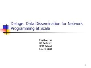 Deluge: Data Dissemination for Network Programming at Scale