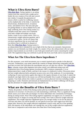 Ultra Keto Burn Natural Tips Reviews & Where To Buy ?