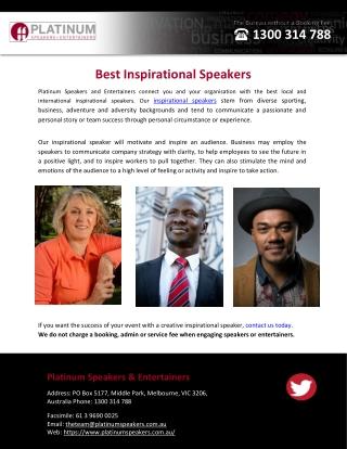 Best Inspirational Speakers