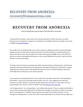 Anorexia Support