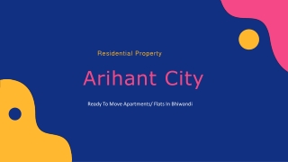 Flat for Sale in Arihant City Bhiwandi Call 8130629360