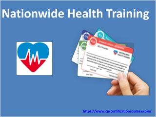 Nationwide Health Training