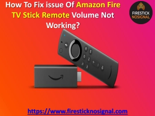 How To Fix issue Of Amazon Fire TV Stick Remote Volume Not Working?