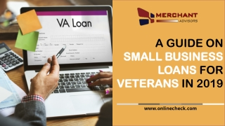 A guide on small business loans for veterans in 2019