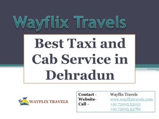Best Taxi Service in Dehradun | Best Cab Service in Dehradun