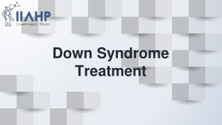 Down Syndrome Treatment