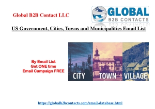 US Government, Cities, Towns and Municipalities Email List