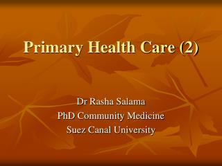Primary Health Care (2)