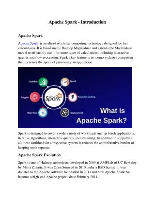 Apache Spark - Introduction