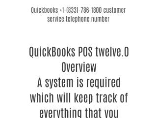 Quickbooks 1-(833)-786-1800 customer care telephone number