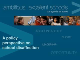 A policy perspective on school disaffection