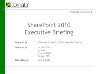 SharePoint 2010  Executive Briefing
