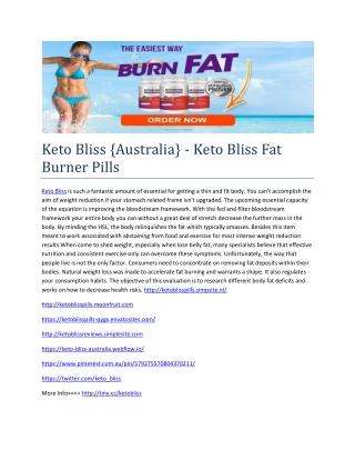 Keto Bliss {Australia} - Help You Burn Extra Fat