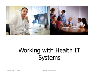 Working with Health IT Systems