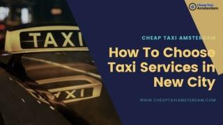 Cheap Taxi Amsterdam
