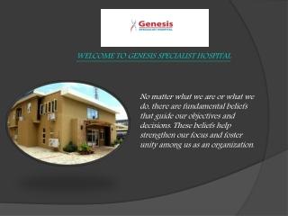 Brain And Spine Specialist Nigeria-Genesis Hospital
