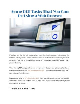 PDF editor online tools