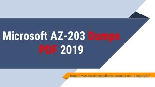 Test Your Skills By Using AZ-203 Dumps pdf