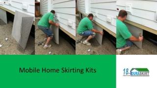 Mobile Home Skirting Kits